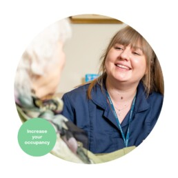 Carer and Resident at a Care Home. Digital Marketing for Care Homes