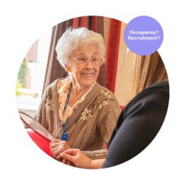 Happy Resident in Care Home Marketing for Care Homes