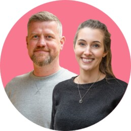 Tom Threadgill and Charlotte Summerskill of Marketing for Care Homes